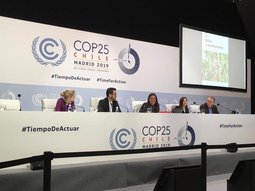 Deborah Delgado participa en presentación de libro del CIFOR en el marco de la COP 25
